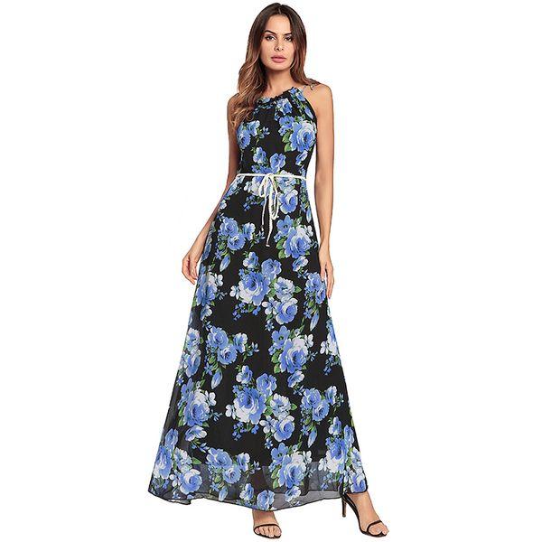 Yok's Women Dresses 2018 Bohemia Holiday Beach Dress Summer Clothes Female Ankle-Lenghth Chiffon Fashion Dress DN141