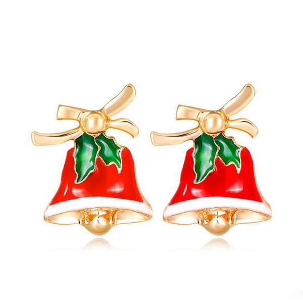 Yeni Varış Moda Noel Bells Damızlık Küpe Kadınlar Için Parti Noel Hediyesi