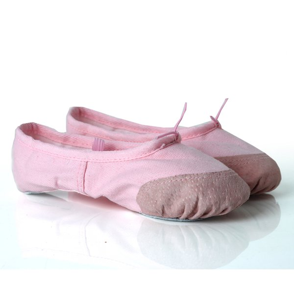Child and Adult Ballet Pointe Dance Shoes Canvas Flat Slippers Ballerina Shoes Kids Girls Ballet Dance Gymnastics Women
