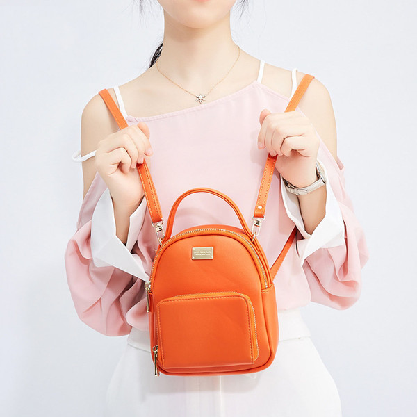 New Korean version of the shoulder multi-function ladies backpack casual fashion small mini cute travel bag fashion trend fast delivery