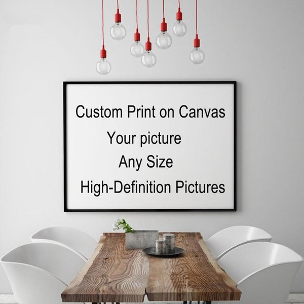 Custom Your Picture,Family or Baby Photo,Favorite Image, Personalized Pictures , Custom Print on Canvas Painting Room Decor