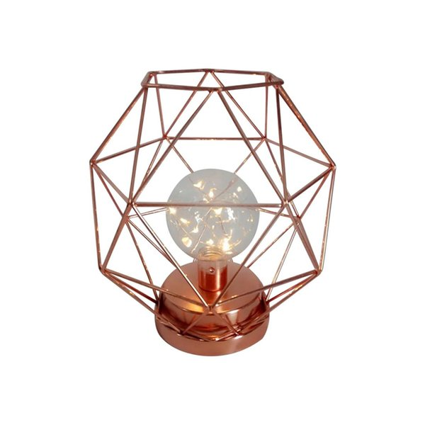 WISH-Rose gold Chic simple design iron-style night light decorative ornaments Iron Candle lamp wind lamp peculiar shape home