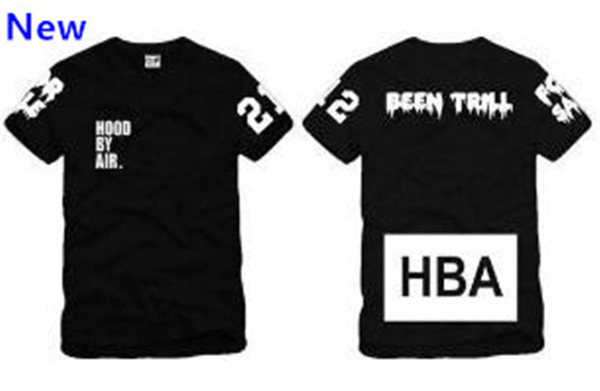 Size S--3XL 2018 summer t shirt Hood By Air HBA Been Trill blank print Hba tee men tshirts 4 color cotton W3