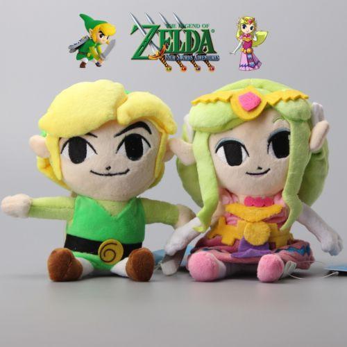 2X The Legend of Zelda Princess Zelda Link Stuffed Animal Plush Toy gift New