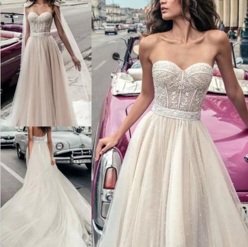 Großhandel 2018 Julie Vino Voll Perlen Plus Size Hochzeitskleid ...