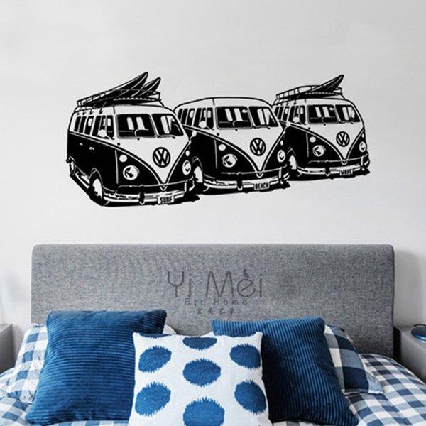Stupendous Acheter Moderne Decoratif Furgonetas Vw Bus Diy Vinyle Sticker Mural Decor A La Maison 58X130Cm Murale Decal Wallpaper Papier Peint Salon Chambre Kid Squirreltailoven Fun Painted Chair Ideas Images Squirreltailovenorg