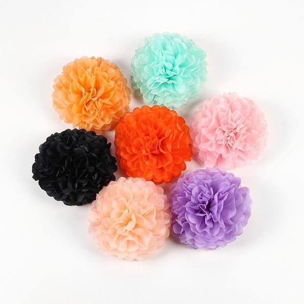 Décoration de fête de mariage Craft Flower 10pcs Papier de soie Pom Poms Balles de fleur