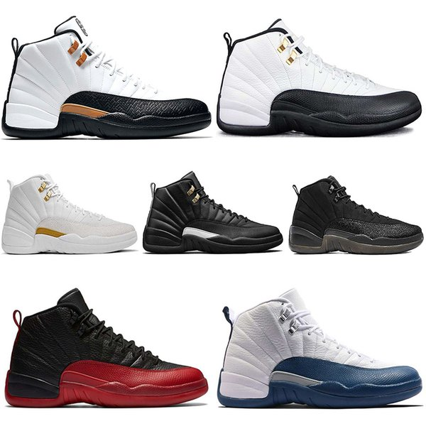 c24a3b1d98ba04 Discount Taxi 12 12s Men Basketball Shoes CNY White Black Flu Game The  Master Gamma French