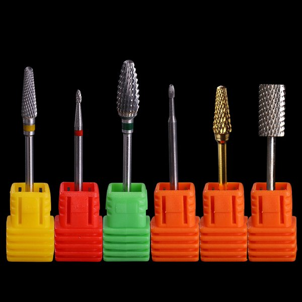 Tungsten Carbide Nail Drill Bit for Electric Grinding Cutter Cuticle Remover Cuspidal File Accessories Manicure Nail Art Tool D18111404