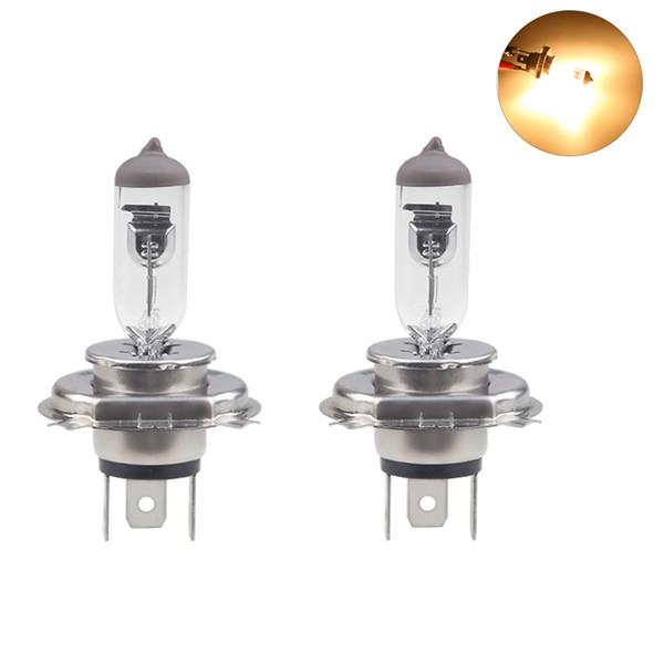 2pcs H4 Super Bright White Fog Halogen Bulb 55W Car Head Lamp Light Car Styling light Source Parking 4300K Lights