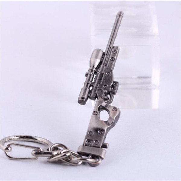Military Sniper Weapon Gun Mini Model Metal Pendant Keychain Charm Key Rings Nice Gift