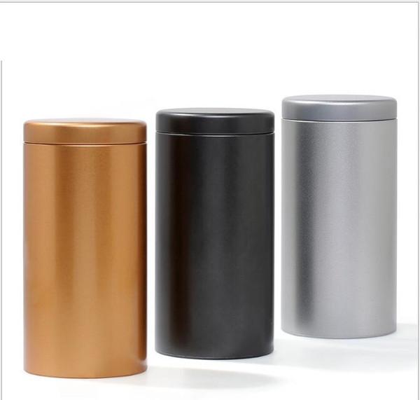 100pcs/lot 100g Tin Round Pot Tea Packing Tube Metal Tea Storage Bottle 175*85MM Tea Coffee Dry-fruit Cookies Jar