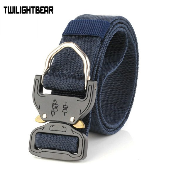 New Cobra Buckle Tactical Belt 3.8cm Nylon di alta qualità 120cm Casual Canvas Belt per uomini E donne Camouflage HE17