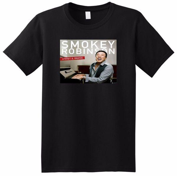 SMOKEY ROBINSON T SHIRT smokey and friends SMALL MEDIUM LARGE OR XL NEW ARRIVAL tees causal summer t shirt free shipping