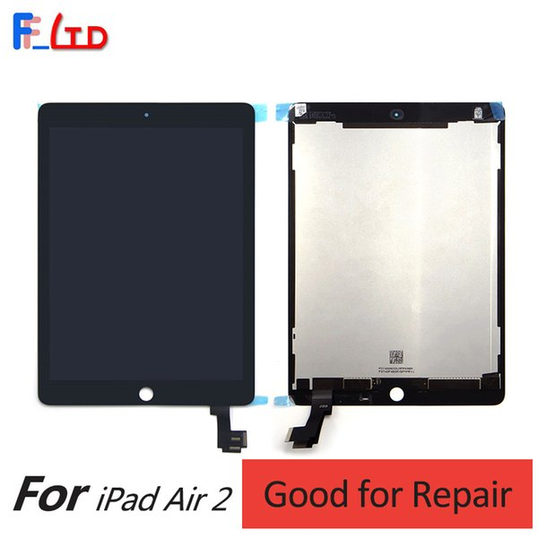 Wholesale Price for iPad Air 2 for iPad 6 LCD Display Digitizer with Front Panel Full Assembly Free Shipping