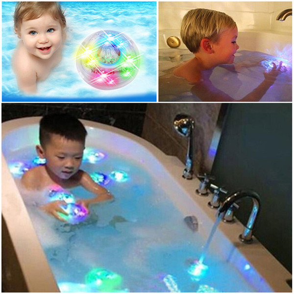 Novelty Boy Kids Bath Toys Fun LED Party In The Tub Waterproof Bathtub Light Up Toys Glow In The Dark For Boy Kid Baby Gift