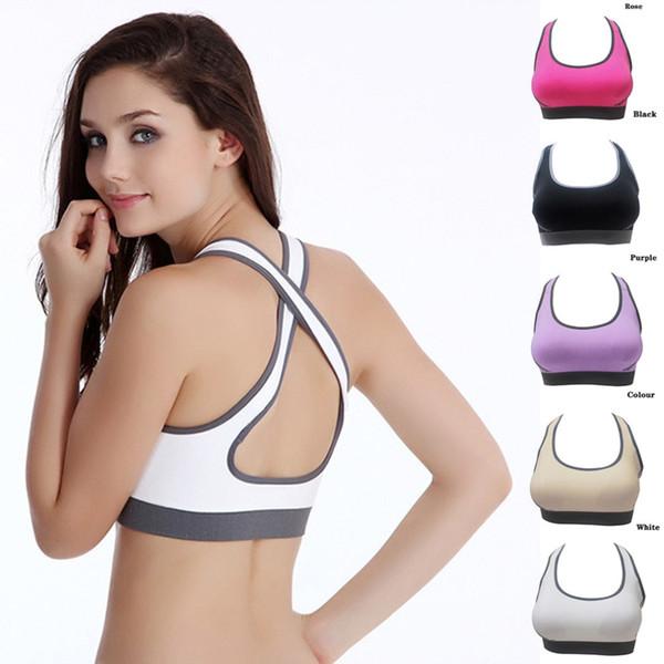 Heißer Verkauf Multicolors! Frauen Padded Top Athletic Weste Gym Fitness Sport BH Stretch Baumwolle Nahtlose beliebt