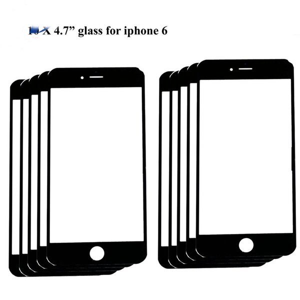 "10pcs high quality Replacement LCD Front Touch panel Glass Outer Lens for iphone 6 6g 4.7inch / 6 Plus 5.5"" Black White colour"
