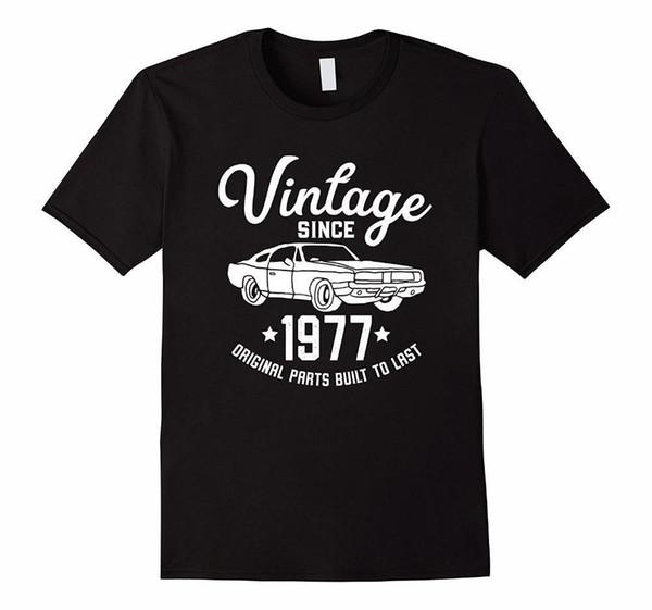 Tripulação Pescoço dos desenhos animados Curto 41o Aniversário 1977 Clássico Do Carro Americano Muscle Men Tshirt Curto Dos Homens Tripulação Pescoço Moda 2018 Tees