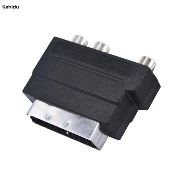 kebidu 2016 New Arrival Hot Selling RGB Scart to Composite RCA S-Video AV TV Audio Adapter Brand New Wholesale