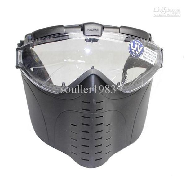 Hot Brand New Marui Anti-Niebla Ventilador Eléctrico Gafas Ventiladas Airsoft Paintball Mascarilla Completa Envío Gratis