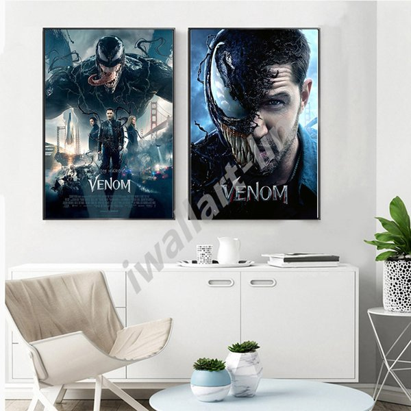 Marvel Movies Venom Official Affiche Wallpaper HD Poster Canvas Painting Oil Framed Wall Art Print Pictures For Living Room Home Decoracion