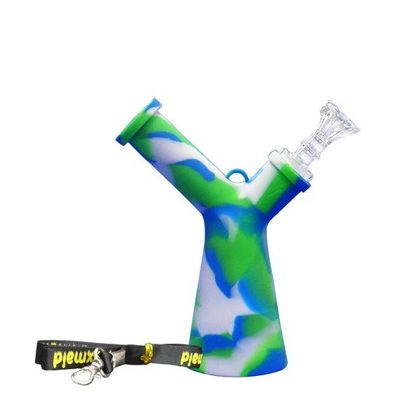 Verre Les conduites d'eau de silicone Bangs forage de puits de pétrole dab avec un cordon 6 couleurs availabe shiping libre