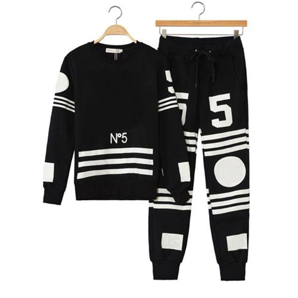 2018 Winter Europe Fashion Paris Stars Men Luxury Coco Homme Femme Black Sport Sweatshirt Casual Women Hoodies Trousers Pants tracksuit