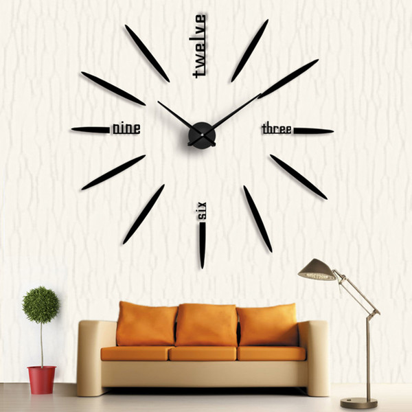 Großhandel 2018 Neue Quarz Uhren 3d Große Uhr Uhren Acryl Spiegel  Selbstklebende Diy Nadel Wanduhren Wohnzimmer Dekoration Von Lanweidu,  $24.11 Auf ...