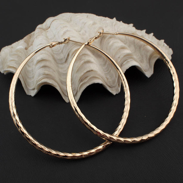 jewellery tray MANILAI Fashion Female Jewelry 50mm Diameter Faceted Alloy Round Hoop Earrings Costume Jewelry Statement Earrings