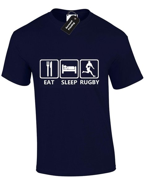 EAT SLEEP RUGBY MENS T SHIRT TEE PLAYER GIFT PRESENT IDEA SIX NATIONS ENGLAND