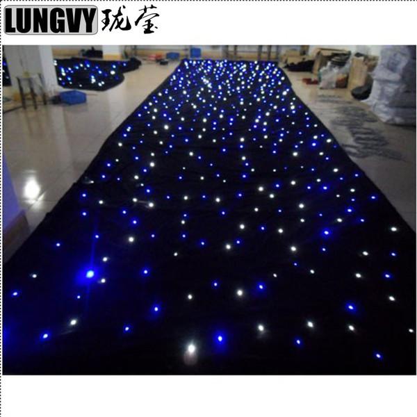 top popular 6.5m*3m Led Star Curtain LED Star Cloth LED Backdrops for DJ Stage Wedding Backdrops Light 2021