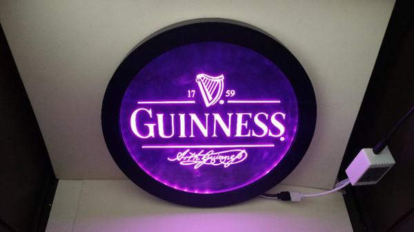Großhandel B91 Guinness Vintage Logos Mann Höhle Rgb Führte Multicolor 16 Farbe Drahtlose Steuerung Bier Bar Pub Club Neon Licht Zeichen Besonderes