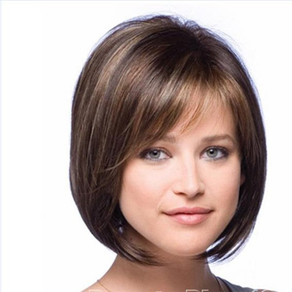 Heat Resistant Synthetic Cute Short Bobo Wigs Natural Blonde Female Hair Wigs Costume Party Hair Replacement Wigs for Young Women