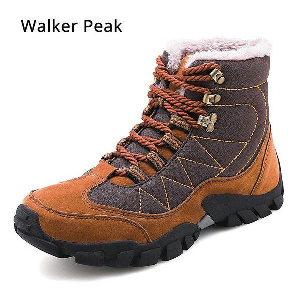 nuovi stili 97df1 9813e Acquista Stivali Da Uomo Inverno Con Pelliccia 2019 Stivali Da Neve Caldi  Uomo Scarpe Da Lavoro Invernali Calzature Scarpe Di Gomma Moda Walker Peak  A ...