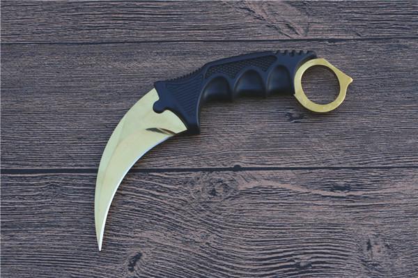 Çelik Kaplan Pençe Karambit 440C açık survival bıçaklar ücretsiz kargo EDC kamp hediye bıçaklar