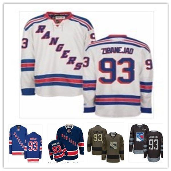 buy popular 1bab7 11d90 2019 2018 Custom New York Rangers #93 Mika Zibanejad Men#WOMEN#YOUTH#Hockey  Jersey Majestic Stitched Professional Sportswear Jerseys From Guojianyi01,  ...
