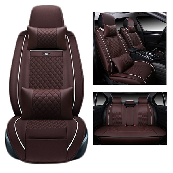 top popular for TOYOTA Corolla RAV4 Highlander PRADO Yaris Prius Camry leather car seat cover front and back Complete set car cushion cover 2019