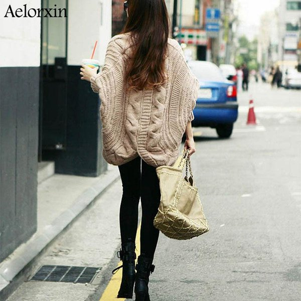 Wholesale- 2016 Fashion Autumn Winter Aelorxin Cardigan New Women Vintage Style High Quality Long Women Casual Loose Long Female Sweater