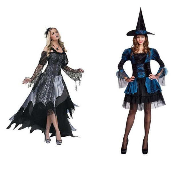 Frauen Sexy Renaissance Spinne Hexe Kostüm Schwarz Kleid Cosplay Partei-abendkleid für Erwachsene Weibliche Halloween-kostüme