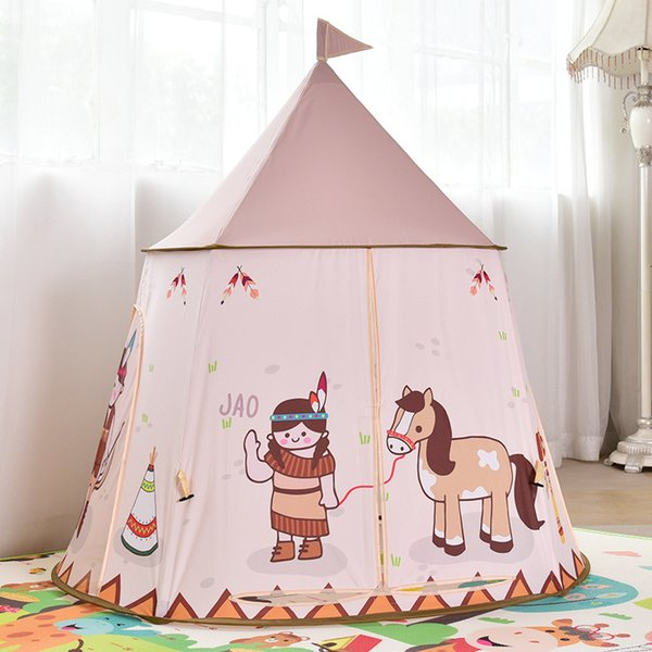 Great Quality Indian Style Portable Princess Castle Play Tent Teepee Tent Indoor and Outdoor Children's Tent Playhouses for Kids