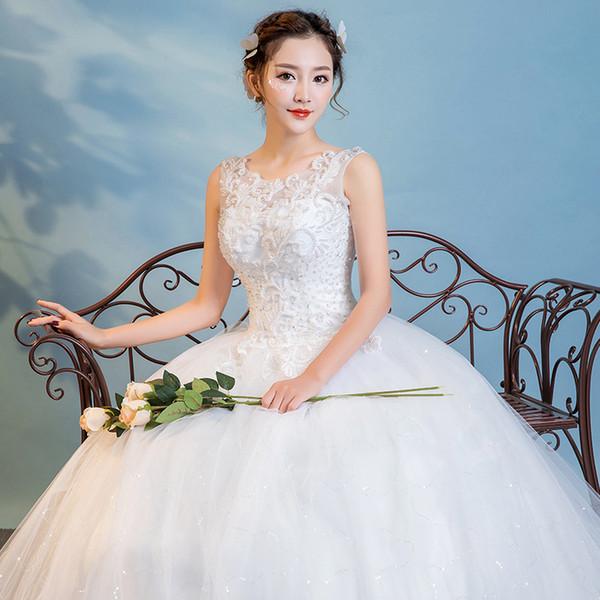 Chinese Cheap Lace Wedding Dress A line V Neck Emboridery Flower Beaded Flower Plus Size Wedding Dresses for pregnant women Floor length W46