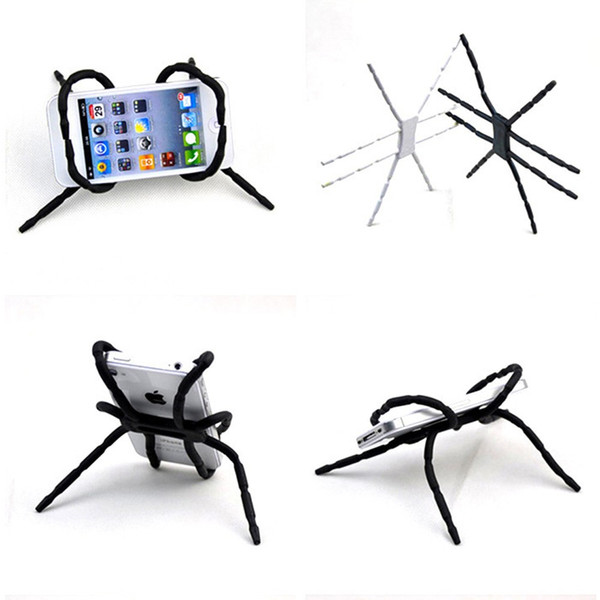 2pcs Universal Spider Mobile Phone Holder For Iphone 6 S 7 Plus Stent For Samsung S6 Edge Car Holder Stand Support Cell Phone Holder