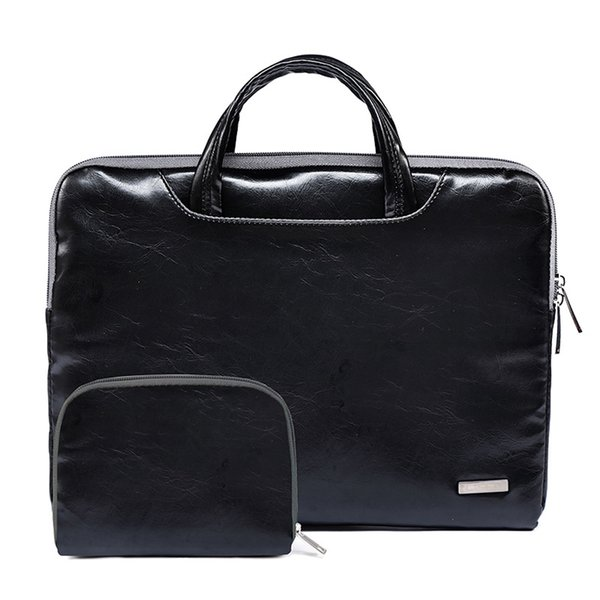 Waterproof PU Leather Men Causal Business Case Handbag Laptop Briefcase Male for Macbook Air Pro Retina 11.6 13.3 15.6 inch