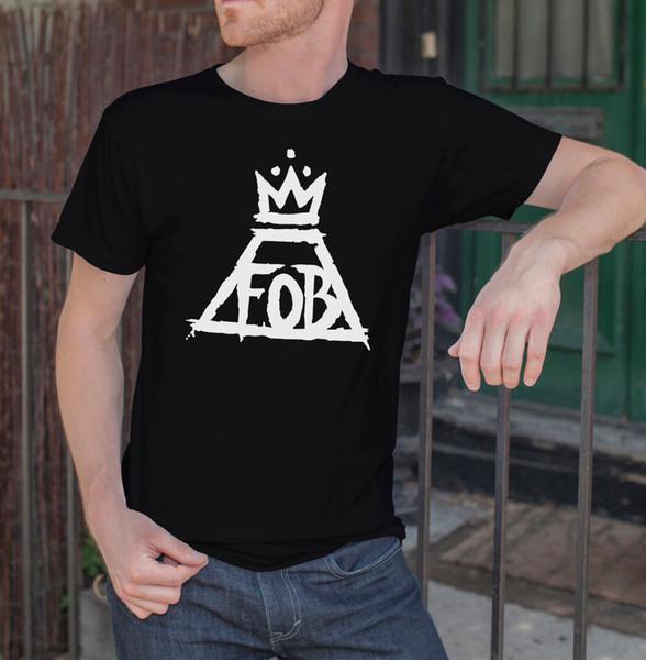 Fall Out Boy Fob Men Black T Shirt Rock Crown Patrick Stump Tee Shirt S - 3xl Casual T-shirt Male Short Sleeve Pattern