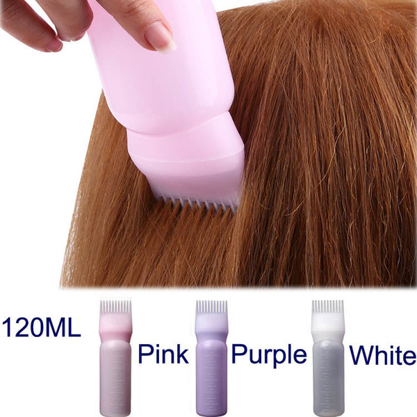120ml Plastic Hair Dye Shampoo Bottle Applicator with Graduated Brush Dispensing Kit Salon Hair Coloring Dyeing Styling Tools