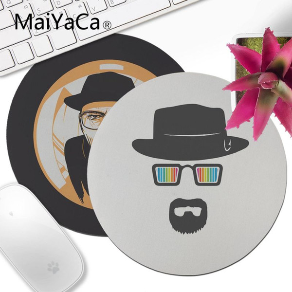 Yinuoda New Design Breaking Bad Chemistry Walter High Speed New Lockedge Mousepad 200x200mm 220x220mm Round Mouse Pad