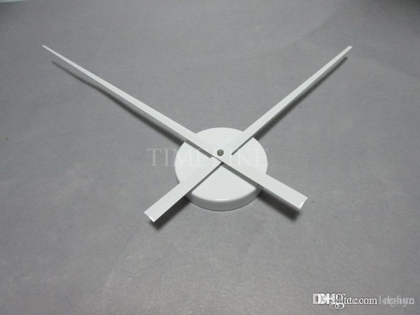 Wholesale-White Color Large Clock Needles Accessory for 3D Wall Clock DIY Big Size Clock Hands and Metal Mechanism Living Room Decoration