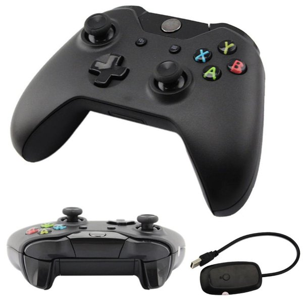 New 2.4GHz Wireless Game Controller Joypad Joystick with Controller Receiver For Xbox One for Microsoft PC Laptop Wholesale APE