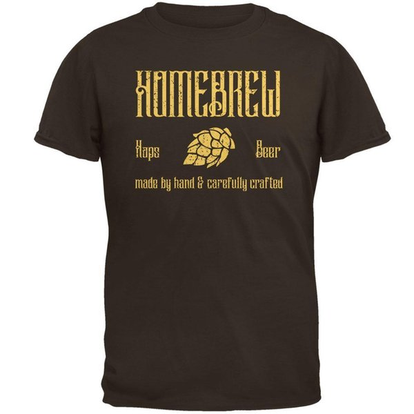 Homebrew Hops Beer Hand Crafted Mens T Shirt Funny free shipping Unisex Casual tee gift